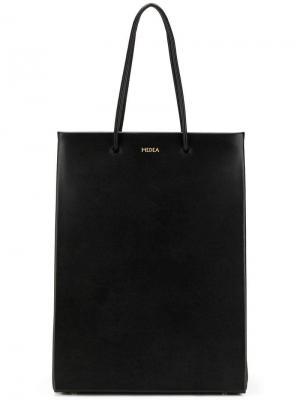 Сумка-шоппер с логотипом Medea. Цвет: черный