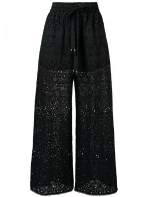 Drawstring waist trousers Zimmermann. Цвет: черный