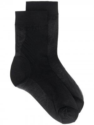 Прозрачные носки Heron Preston. Цвет: черный