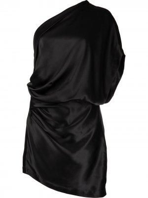 Платье мини на одно плечо Michelle Mason. Цвет: черный