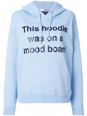 Худи с принтом Mood Board House Of Holland. Цвет: синий