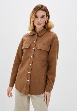 Рубашка Vero Moda. Цвет: коричневый