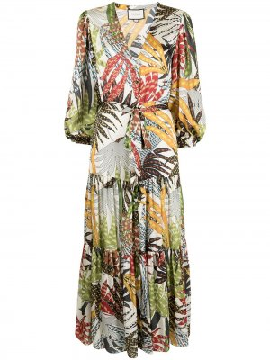 Платье макси Terena с цветочным принтом Alexis. Цвет: разноцветный