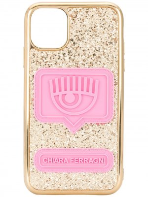 Чехол Eyelike для iPhone 11 с блестками Chiara Ferragni. Цвет: золотистый