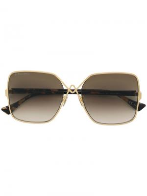 Oversized tinted sunglasses Altuzarra. Цвет: золотистый