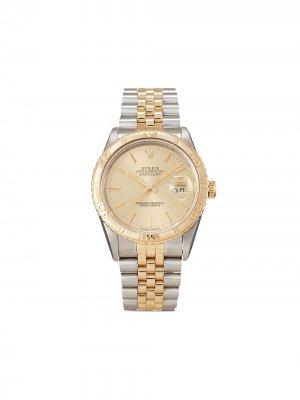 Наручные часы Datejust Turn O-Graph pre-owned 36 мм 1994-го года Rolex. Цвет: золотистый