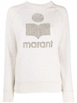 Толстовка с логотипом Isabel Marant Étoile. Цвет: нейтральные цвета