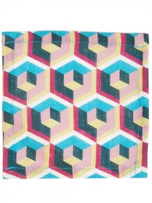 Комплект из шести салфеток La Doublej. Цвет: розовый
