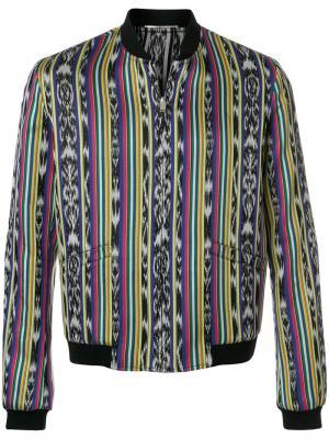 Куртка-бомбер с узором Saint Laurent. Цвет: разноцветный
