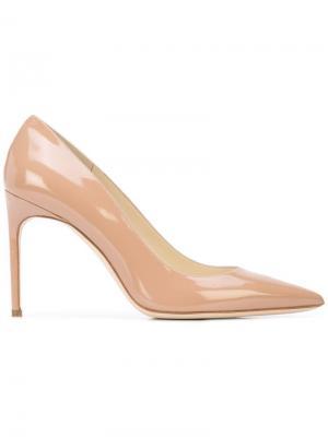 Классические туфли-лодочки с заостренным носком Brian Atwood. Цвет: коричневый