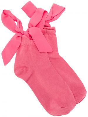 Носки с бантом Twin-Set. Цвет: розовый и фиолетовый