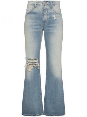 Расклешенные джинсы Adaptation. Цвет: синий