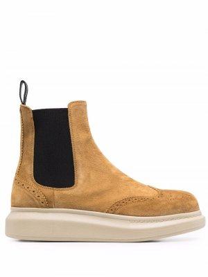 Ботинки челси Hybrid Alexander McQueen. Цвет: коричневый