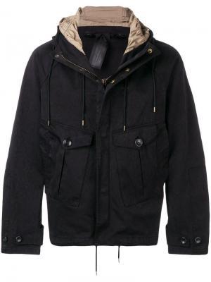 Парусиновое пальто Ten C. Цвет: черный