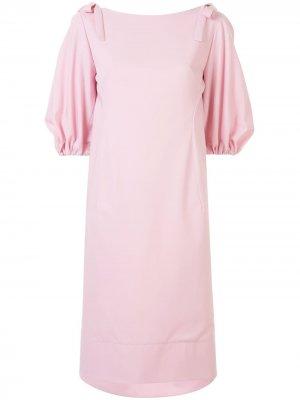 Платье с рукавами-колокол Delpozo. Цвет: розовый