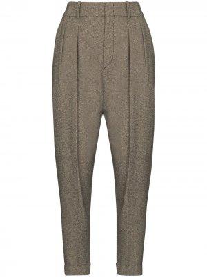 Зауженные брюки строгого кроя Isabel Marant. Цвет: серый