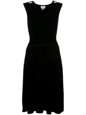 Трикотажное платье без рукавов Milly. Цвет: черный