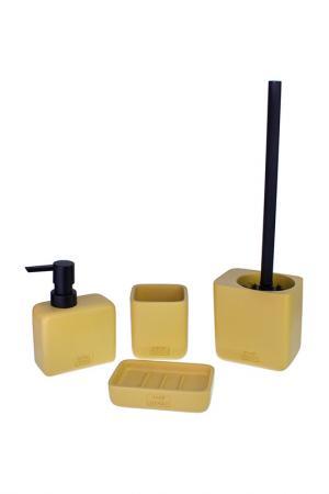 Набор аксессуаров для ванной PROFFI HOME. Цвет: желтый