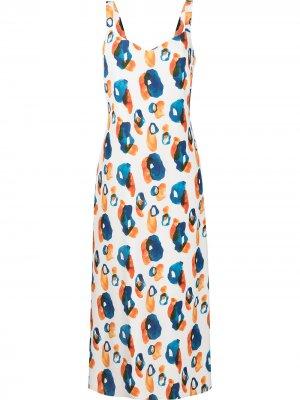 Платье с абстрактным принтом Jason Wu. Цвет: белый