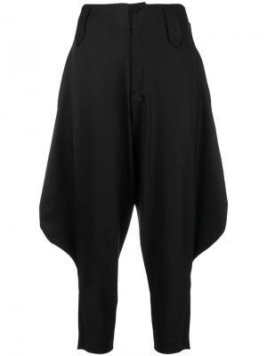 Суженные брюки с заниженным шаговым швом Ultràchic. Цвет: черный