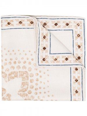 Платок-паше с геометричным принтом Brunello Cucinelli. Цвет: нейтральные цвета