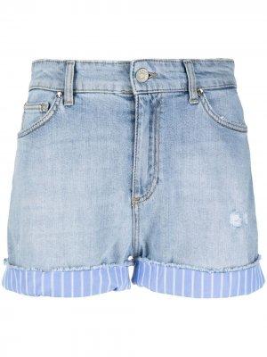 Джинсовые шорты с полосками LIU JO. Цвет: синий
