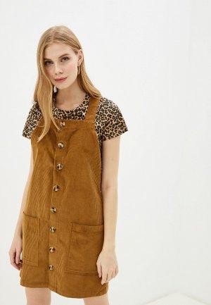 Сарафан Nice & Chic. Цвет: коричневый
