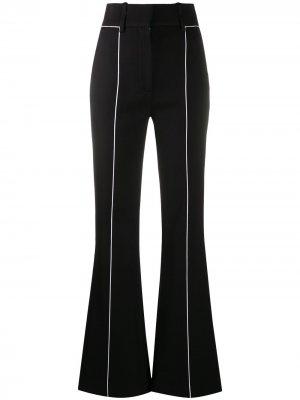 Расклешенные брюки с контрастными полосками Givenchy. Цвет: черный