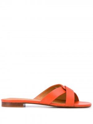 Босоножки Iston на низком каблуке Clergerie. Цвет: оранжевый