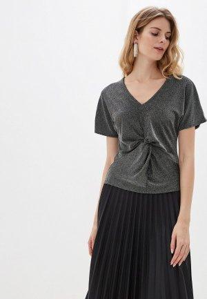 Блуза Marks & Spencer. Цвет: серебряный