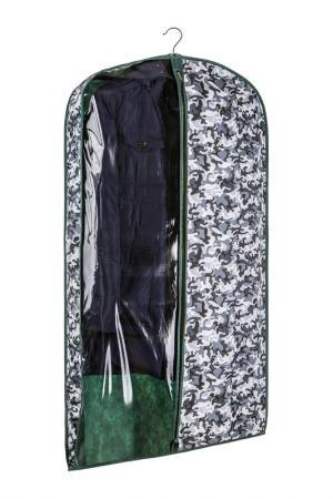 Чехол объемный для одежды COFRET. Цвет: серый
