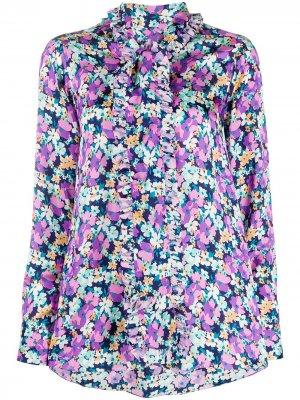 Блузка с цветочным принтом Plan C. Цвет: фиолетовый