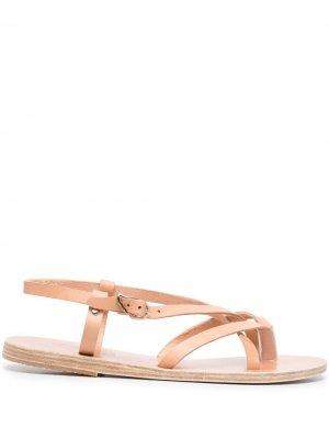 Сандалии с ремешками и пряжками Ancient Greek Sandals. Цвет: нейтральные цвета