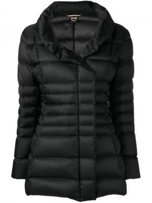Приталенная дутая куртка Colmar. Цвет: черный