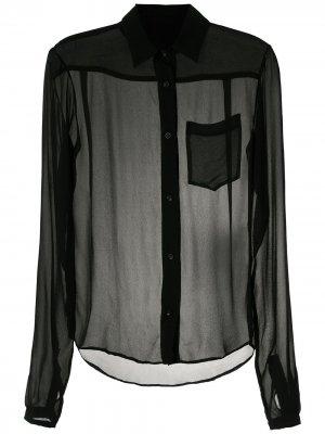 Прозрачная рубашка Amir Slama. Цвет: черный