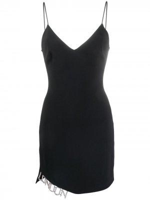 Вечернее платье на бретелях David Koma. Цвет: черный