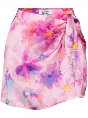 Юбка Dani с цветочным принтом Frankies Bikinis. Цвет: розовый