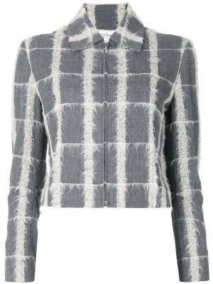 Пиджак в клетку pre-owned Christian Dior. Цвет: серый
