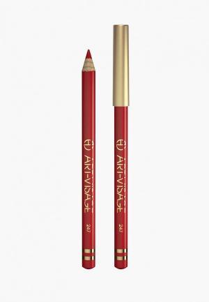 Карандаш для губ Art-Visage. Цвет: красный