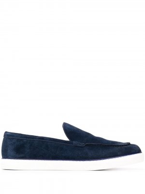 Лоферы с закругленным носком Fratelli Rossetti. Цвет: синий