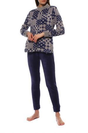 Пижама Buccia di Mela. Цвет: темно-синий