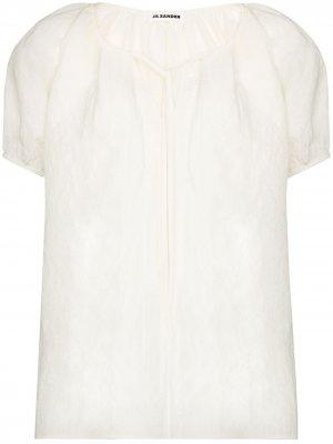 Блузка Ninette с короткими рукавами Jil Sander. Цвет: белый