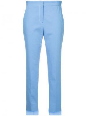 Зауженные брюки с контрастной строчкой Rosetta Getty. Цвет: синий