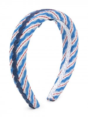 Ободок с плетеной отделкой Mi Sol. Цвет: синий