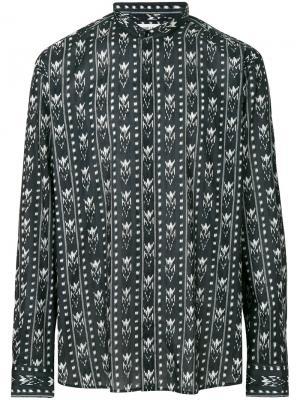 Рубашка с принтом Ikat Saint Laurent. Цвет: черный