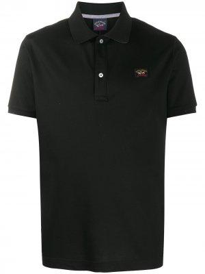 Рубашка поло iconic с нашивкой Paul & Shark. Цвет: черный