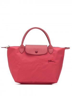 Маленькая сумка-тоут Le Pliage Longchamp. Цвет: розовый