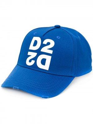 Кепка с логотипом Dsquared2. Цвет: синий