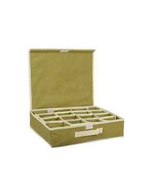 Органайзер для аксессуаров и нижнего белья HomeMaster. Цвет: оливковый