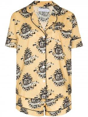 Пижама Eros с принтом Desmond & Dempsey. Цвет: желтый